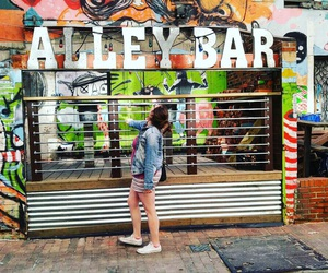 alley, color, and bar image