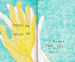 art, quotes, and touch image