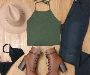 boots, hat, and jeans image