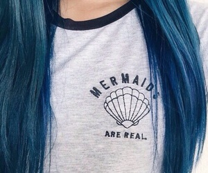 fashion, hair, and mermaid image