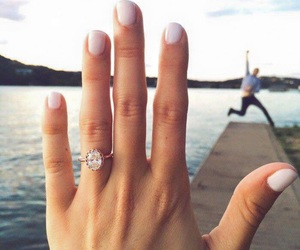 love, wedding, and ring image