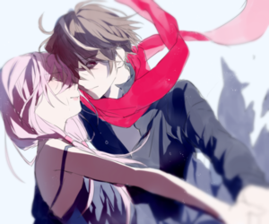 guilty crown, anime, and anime couple image