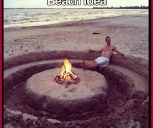 beach, ideas, and fire image