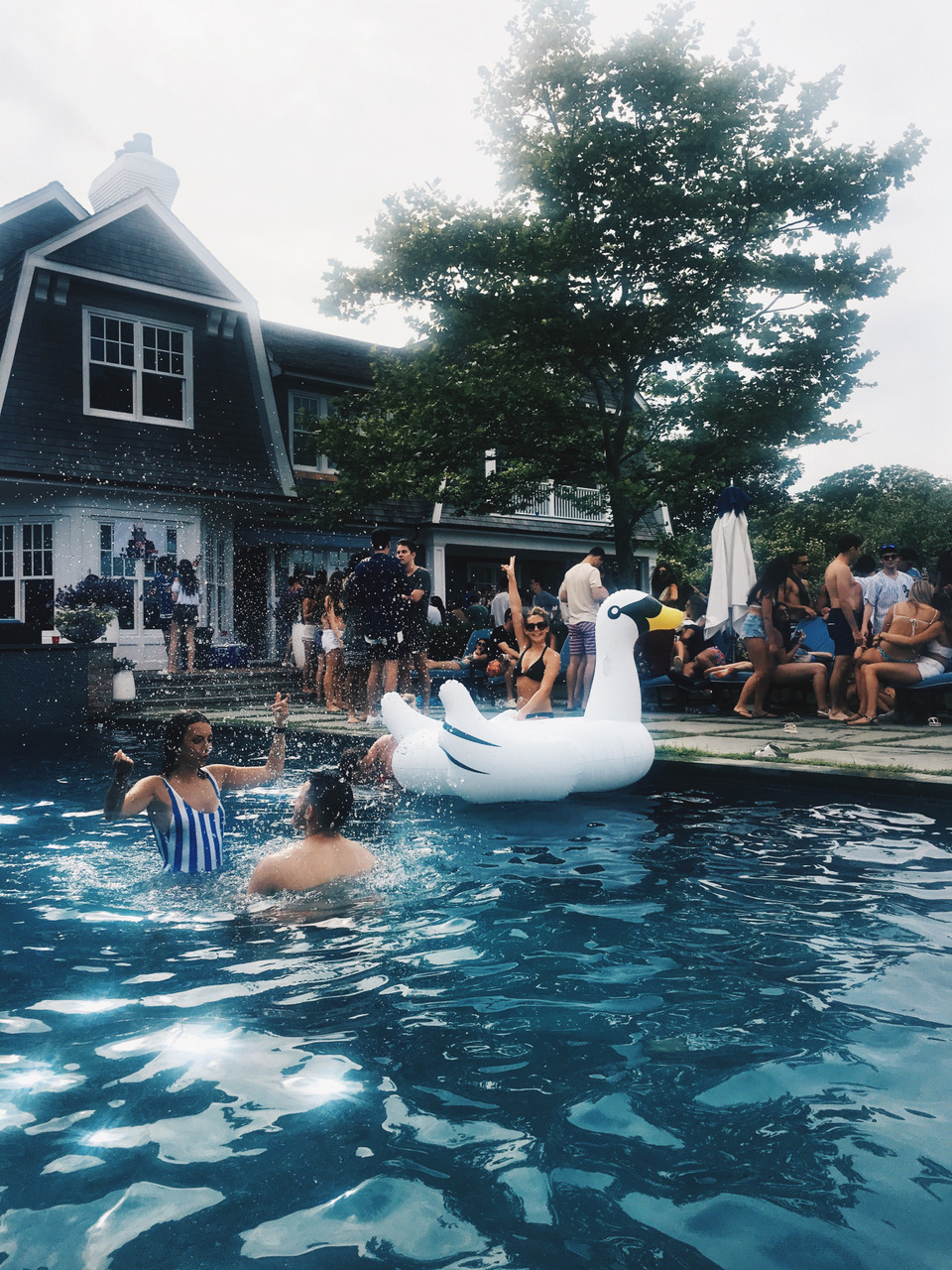 float, pool party, and fun image