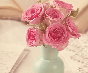 background, pink roses, and wallpaper image