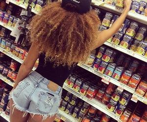 curly, hair, and shorts image