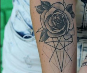 flower, geometric, and love image