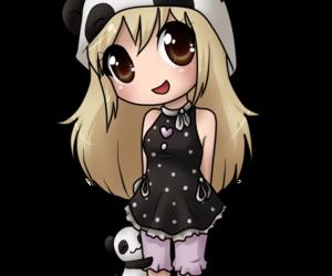 draw, girl, and panda image