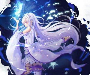 anime, emilia, and re zero image
