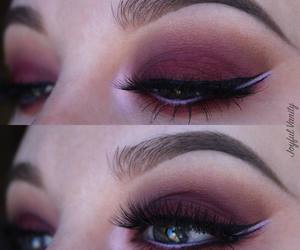 eyes, lashes, and lavender image