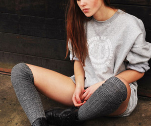 girl and knee socks image