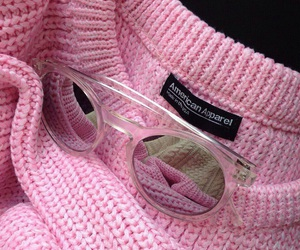 pink, american apparel, and glasses image