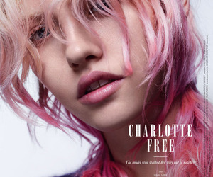 pink hair and charlotte free image