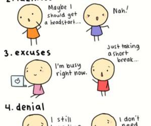 procrastination, school, and study image