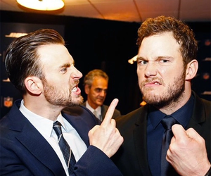 chris evans and chris pratt image