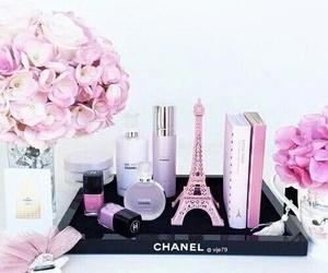 chanel, rose, and girly image