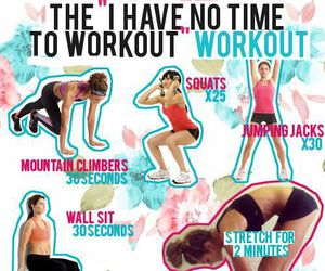 workout, exercise, and fit image