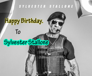 happy birthday, birthday party dress, and sylvester stallone image