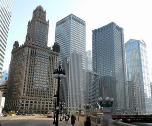 skyline, skyscrapers, and chicago image