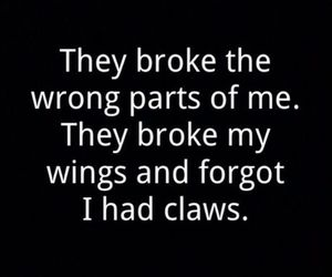 claws, quotes, and wings image