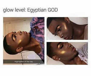 egyptian, wow, and glow image
