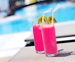 drinks, pink, and summer image