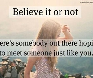 quote, believe, and hope image