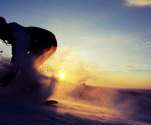 photography, snowboarding, and winter image