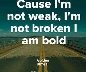 bold, Lyrics, and golden image