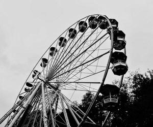 ferriswheel, beautiful, and black&white image