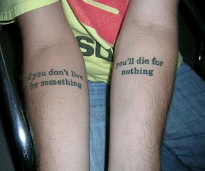 tattoo, quotes, and die image