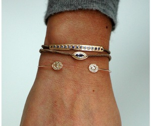 bracelet, gold, and ring image
