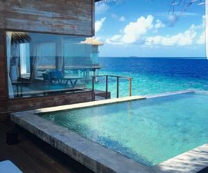 sea, house, and luxury image