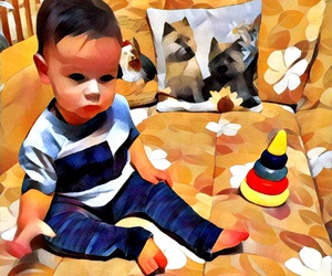 happiness, painting, and prisma image