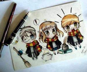 harry potter, drawing, and hp image