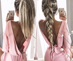 fashion, fishtail, and hair image