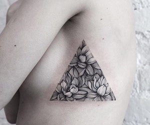cool, flower, and tatto image