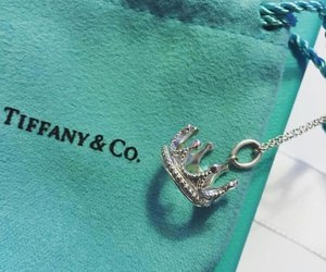 blue, crown, and necklace image