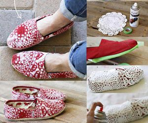 diy, shoes, and red image