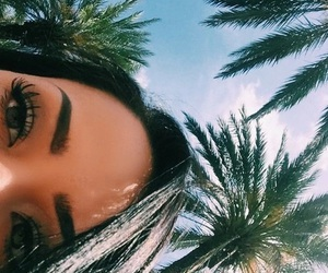 summer, makeup, and beach image