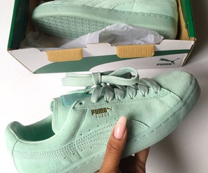 puma, shoes, and green image