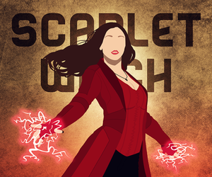 art, scarlet witch, and civil war image