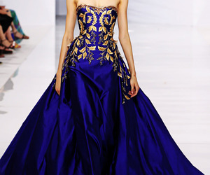 blue, Georges Hobeika, and golden image