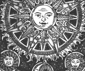 black, sun, and white image