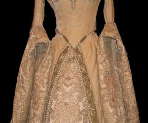 brocade, dress, and gown image