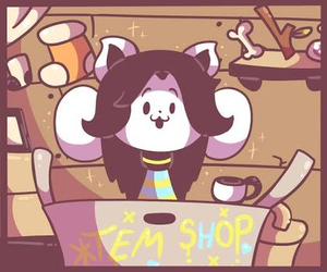 Ⓗⓞⓘ, undertale, and temmie image