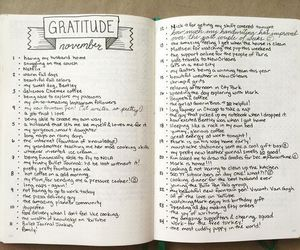 gratitude, ideas, and journal image