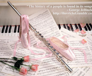 ballet, ballet shoes, and music image