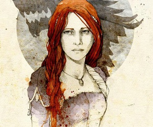 game of thrones, sansa stark, and wolf image