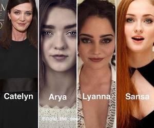 arya stark, sansa stark, and lyanna stark image